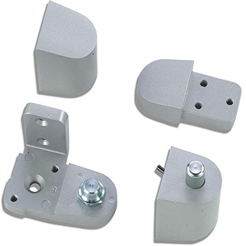 Pittco/PPG Style Aluminum Storefront Door Pivot Hinge Set in Aluminum - Choose Handing (Left Hand) ()
