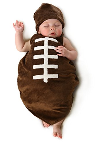 Baby Boy Football Costume (Princess Paradise Baby Boys' Finn The Football Deluxe, brown, 0/3M)