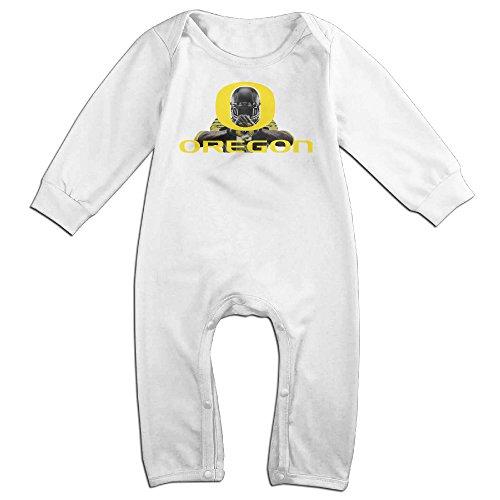 KIDDOS Baby Infant Romper Oregon Ducks Long Sleeve Jumpsuit Costume,White 12 Months (Baby Godzilla Costume)
