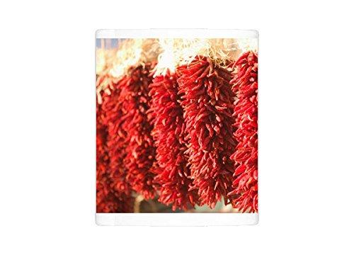 Mug of USA, New Mexico, Santa Fe Downtown Santa Fe, Chili Pepper Ristras/Wreaths (5785421)