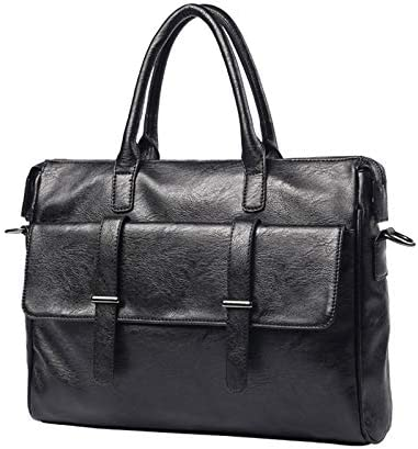 HTDZDX 10 Inch Laptop Case Business Briefcase Casual Leather Messenger Bag for Men Multi-Functional Organizer