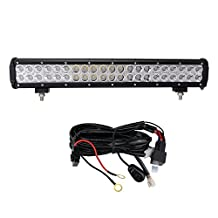 "LED Light Bar, Northpole Light 20"" 126W Waterproof CREE Spot Flood Combo LED Light Bar LED Off Road Lights Driving Fog Light with Wiring Harness for Off Road, Truck, Car, ATV, SUV, Jeep"