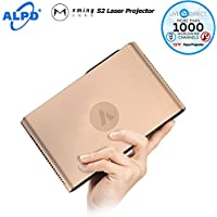 Portable Cinema Projector, XMING S2 Laser Projector 1080p HD DLP Android Smart 3D Home Theater Projector TV with LiveTV.Direct Enhanced Software Services