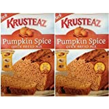 Krusteaz Pumpkin Spice Quick Bread Supreme Mix (Two Pack) 15 Oz Boxes