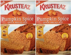 (Krusteaz Pumpkin Spice Quick Bread Supreme Mix (Two Pack) 15 Oz Boxes)