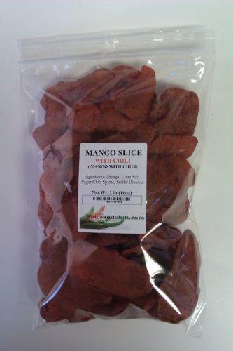 Dried Mango with Chili - Mango Con Chile (1 Lb Bag) by spiceandchili.com