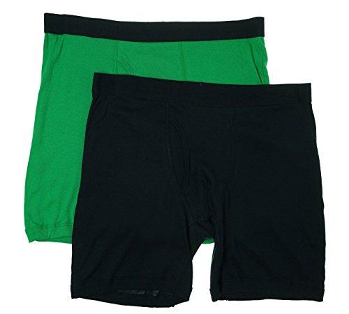 Tommy Hilfiger Mens 2PK Cotton Boxer Briefs Green S