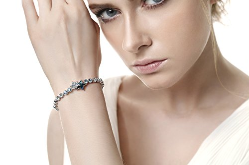 Crystal Bracelet with 12 Star Signs / Zodiacs Tail Pendant - Leo - Crystal From Swarovski