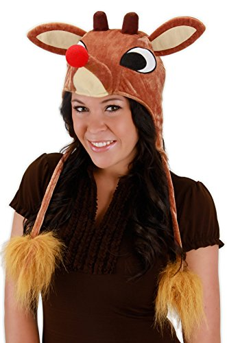 Light Up Christmas Costumes (Rudolph Light-Up Hoodie Hat Costume Accessory)