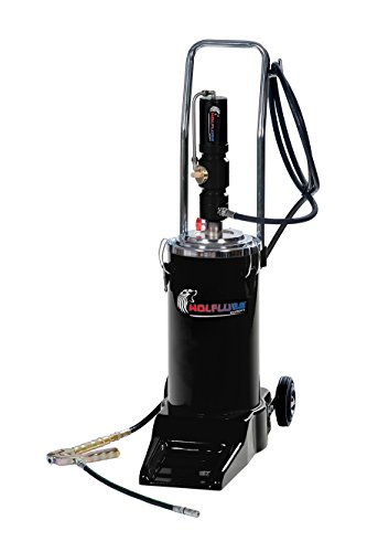 Wolflube Pneumatic Wheeled Grease Pump for 35 Lbs Drum (Pneumatic Pump Drum)