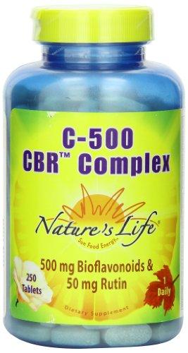 Natures Life  C 500 Cbr Complex  Bioflavonoids 500Mg   Rutin 50Mg Tablets  250 Count