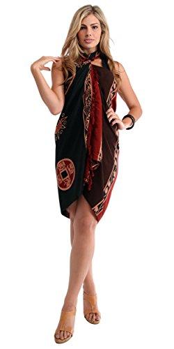 1World Sarong Mujeres Abstracto Tiki–Bañador de Cover-Up Pareo 7