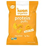 IWON Organics Cheddar Cheese Flavor Protein Puff, High Protein and Organic, 8 Bags,