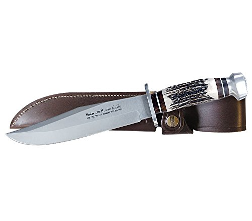 Linder 196013 Original Stag Bowie Hunting Knife with Sheath