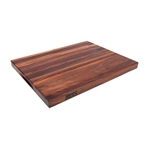 Walnut Block (John Boos WAL-R02 Walnut Wood Edge Grain Reversible Cutting Board, 24 Inches x 18 Inches x 1.5 Inches)