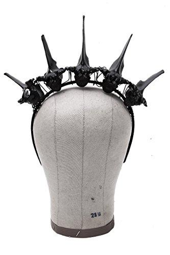 Black Deer Vertebra Crown Headband by Corvus + Crux