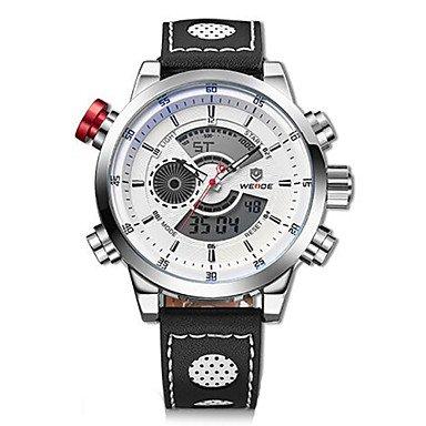 Relojes para hombres, Marca de lujo weide auténticos hombres del reloj de cuarzo de cuero de ...