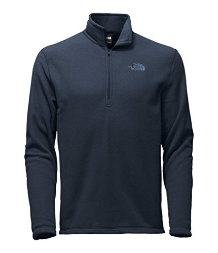 Men Pullover (The North Face TKA Glacier 1/4 Zip - Urban Navy - L)
