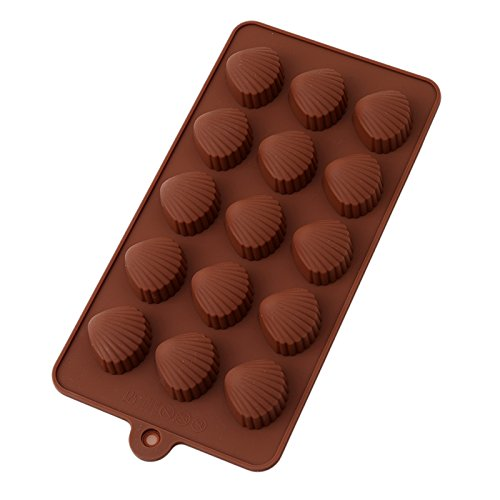 Silicone Chocolate Moulds New 15 Lattices Chocolate Mold Ice Cube 3D Shell Pattern Chocolate Soap Sugar Craft Fondant Mold