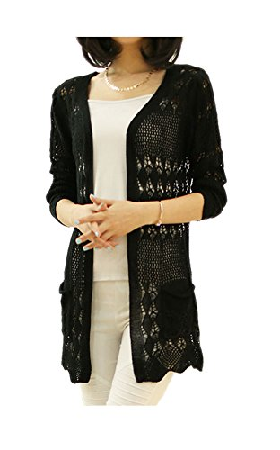 ARJOSA Pockets Crochet Cardigan Sweater