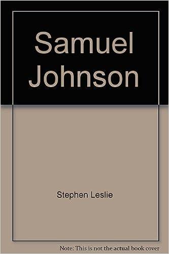 Read online Samuel Johnson, (English men of letters) PDF, azw (Kindle), ePub