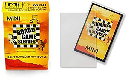 2 Packs Arcane Tinmen Non-Glare Board Game Sleeves 50 ct Large Size Card Sleeves Individual Pack