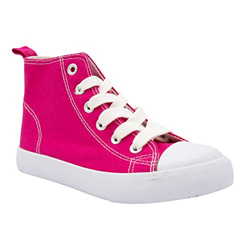 ZOOGS Fashion High-Top Canvas Sneakers Girls Boys Youth, Toddlers & Kids Pink