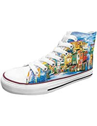 """<span class=""""a-offscreen"""">[Sponsored]</span>Official Men Colorful Country High Top Rubber Sole Casual Canvas Sneaker Shoes"""