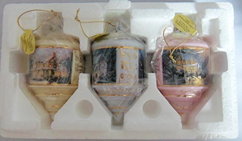(2001 The Bradford Editions by Thomas Kincaid Keepsake Ornaments set of 3)