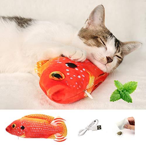 Juguete De Gato Pez Eléctrico Juguetes Interactivos Para Gatos