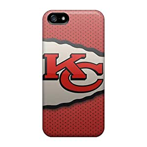 Perfect Hard Cell-phone Cases For Iphone 5/5s With Support Your Personal Customized Vivid Kansas City Chiefs Skin ErleneRobinson