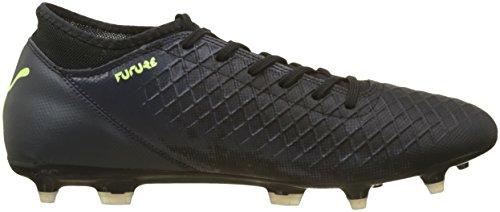 Puma Men Toekomstige 18,4 Fg / Ag Voetbalschoenen Zwart (black-puma Fizzy Geel-asfalt)