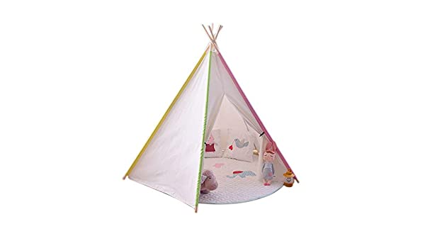 Juguete tienda canadiense For el bebé en interiores y exteriores plegables Reproducción Tipi tiendas de campaña con las decoraciones de la diversión de los niños Tipi Tent Tent juego de niños Aventura: