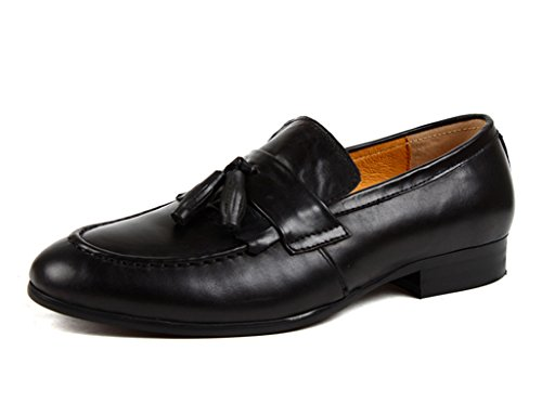 Herren Lederschuhe Lederschuhe der Retro Britischen Art-Männer Geschäfts-Quaste Herrenschuhe (Farbe : Braun, Größe : EU44/UK8.5) Schwarz