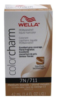 Color Liquid Charm (Wella Color Charm Liquid #0711/7N Medium Blonde (41ml) (3 Pack))