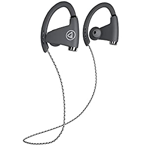 TrendHolders Bluetooth Headphones, Best Wireless Sports Earphones w/ Mic IPX7 Waterproof HD Stereo Sweatproof Earbuds for Gym Running Workout 12 Hour Battery Noise Cancelling Headsets