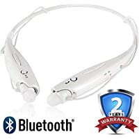 GO SHOPS HBS-730 Wireless Bluetooth in-Ear Headset with Mic, Magnetic Earbuds, Neck-Band for Vivo 15 Pro,Redmi Note 7 and All Android Devies