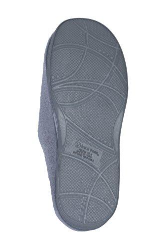 Zapatillas De Interior Para Mujer Joan Vass Con Diseño De Terry Slide Disponibles En Colores Magníficos Gris