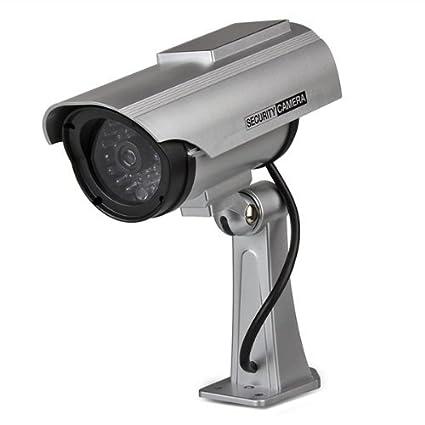 Vigilancia Grabadora Cámara Solar Dummy LED Seguridad Coche Color Plata: Amazon.es: Bricolaje y herramientas