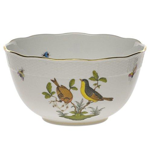 Herend Rothschild Bird Round Serving Bowl