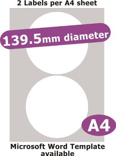Minilabel 139 5mm Diameter Round, 10 Labels, Removable Low Tack Adhesive, Matt Paper, 5 A4 Sheets, Laser Copier Inkjet Stickers