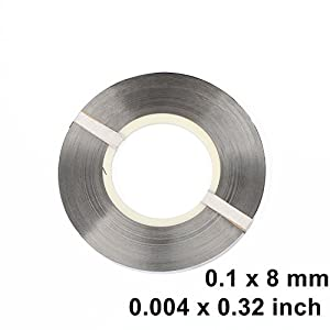 0.1 x 8 mm Pure Nickel Strip for 18650 Battery Welding Spot Welding 1kg