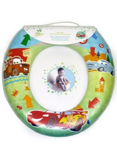 Disney Cars Kids Padded Toilet Seat Soft Potty Training Bath