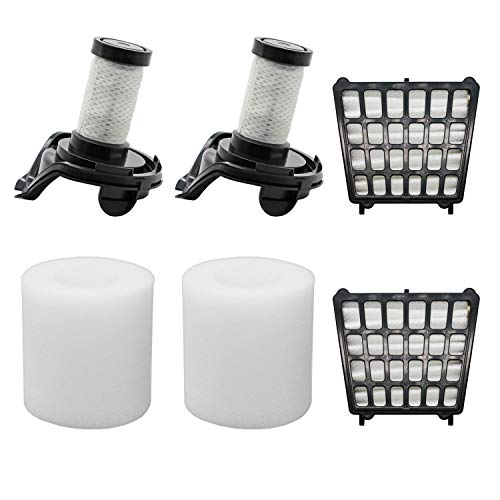 Lemige 2 HEPA Filters + 2 Foam Filters+ 2 Pre-Motor Filters Replacement Parts for Shark Flex DuoClean Corded Ultra-Light Vacuum HV390, HV391, HV392. Compare to Part # 461FFJV390&464FFJV390