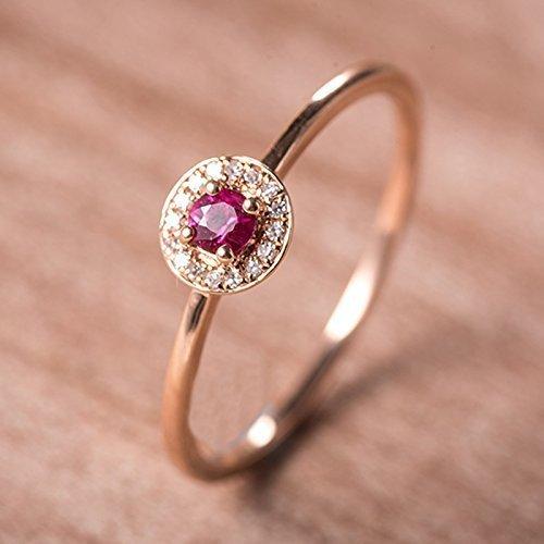 Ruby Wedding Rings.Amazon Com Rose Gold Wedding Ring Ruby Wedding Rings Halo