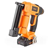 VonHaus 18v Cordless Nail Gun/Brad Nailer - Li-ion Battery Operated - Ergonomic - Medium Duty For Fabrics, Upholstery, Underlay, Carpeting, Roofing & Crafts Model No. 9100100