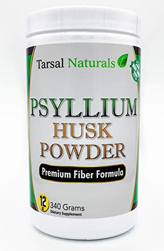 Psyllium Husk Fiber Powder 16 oz Natural Formula Helps for Stool Softener Support Removal of Intestine and Colon toxins Supports for Health Colon and Gastrointestinal Tract Made in USA FDA Registered