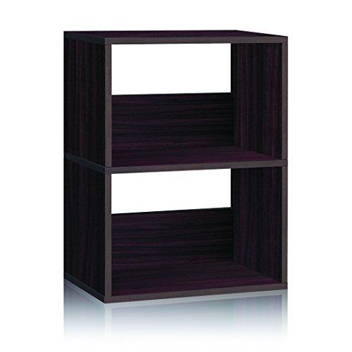 espresso 2 shelf bookcase - 1