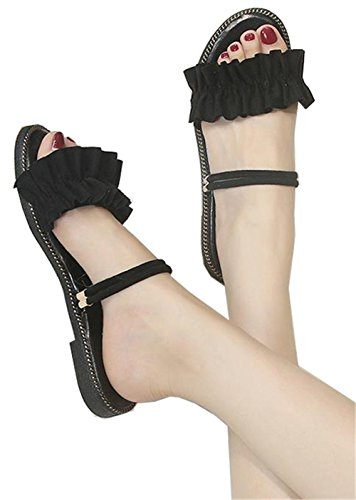 [ベィジャン] レディーズ ビーチサンダル ローヒール 無地 可愛い 靴 ボヘミア おしゃれ 欧米 歩きやすい サンダル リゾート