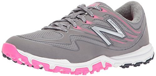 New Balance Women's Minimus Sport Golf Shoe, Pink/Grey, 10.5 B B US